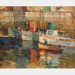 Antonio Cirino (American, 1889-1983)      Boat's Rendezvous