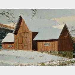 Eric Sloane (American, 1905–1985)      The Dutch Barn