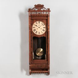 "Ansonia Walnut ""Santa Fe"" Wall Regulator"
