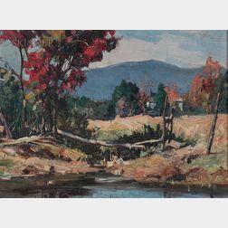 Stanley Wingate Woodward (American, 1890-1970)      Autumn Field