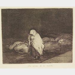 Jose Francisco de Goya y Lucientes (Spanish, 1746-1828)    Las Camas de la Muerte