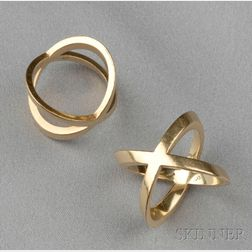 """Pair of 18kt Gold """"Anelli"""" Rings, GianCarlo Montebello"""