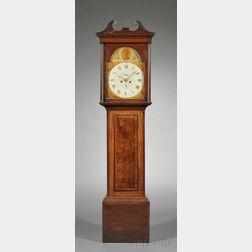 George III Mahogany and Inlay Tallcase Clock