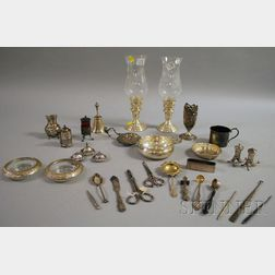 Bag of Sterling Silver and Silver-plated Accessories