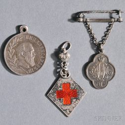Three Imperial Russian Pins and Pendants