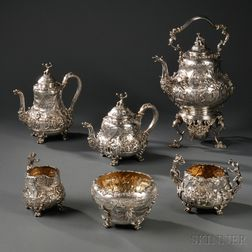 Edward VII Six-piece Sterling Silver Tea Service