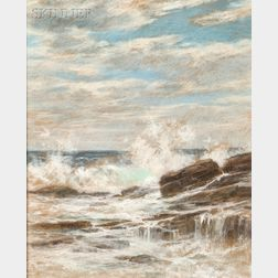 John Appleton Brown (American, 1844-1902)      Crashing Surf