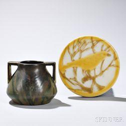 Rookwood Pottery Trivet and Vase