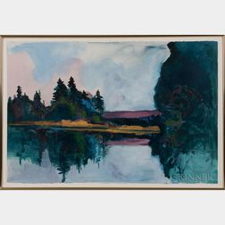 Gracia Dayton (American, 20th/21st Century)      Four Framed Works on Paper: Moon Dreams ,  Is There Room?