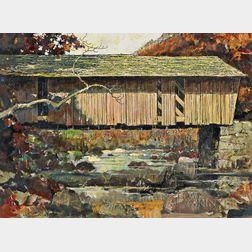 Eric Sloane (American, 1905-1985)      Lovejoy Bridge, Maine
