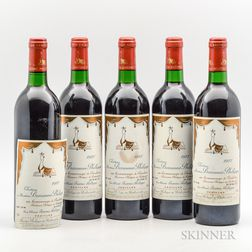 Chateau Mouton Baron Philippe 1987, 5 bottles