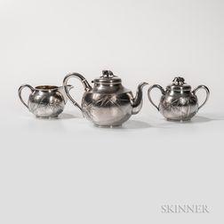 Three-piece Japanese Silver Tea Service