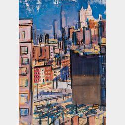 Ben Benn (American, 1884-1983)      Lower Manhattan