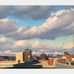 Ed Stitt (American, 20th/21st Century)      Clouds from Roof
