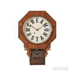 "Ansonia Clock Co. ""Cream of Mustard"" Advertising Clock"