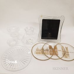 Ten Pieces of Signed Colorless Glass