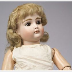 Early Kestner Closed Mouth Bisque Socket Head Doll