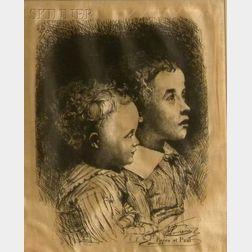 Jules (Joseph Augustin) Laurens (French, 1825-1901)      Pierre et Paul