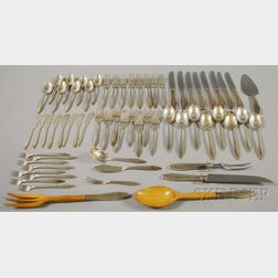 """State House """"Formality"""" Pattern Sterling Silver Partial Flatware Service for Eight"""