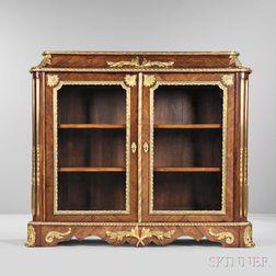 Napoleon III Tulipwood and Walnut Gilt-bronze-mounted Cabinet