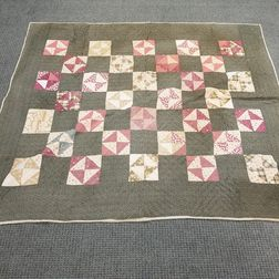 Four Pieced and Appliqued Cotton Quilts