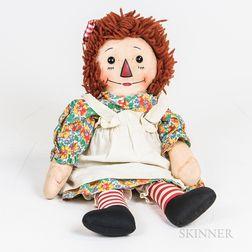 Georgene Novelties Raggedy Ann Cloth Doll