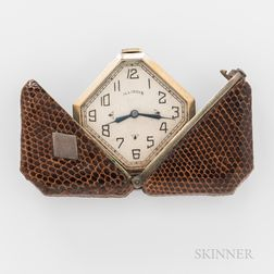 """Illinois """"Caprice"""" Skin-covered Purse Watch"""
