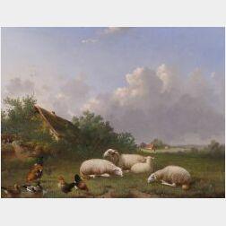 Jacob van Dieghem (Dutch, d. 1873)  In the Pasture