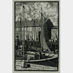 Leo John Meissner (American, 1895-1977)    New Bedford Boats