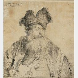 Rembrandt van Rijn (Dutch, 1606-1669)      Old Man with a Divided Fur Cap