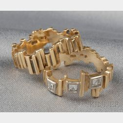Two 18kt Gold Rings
