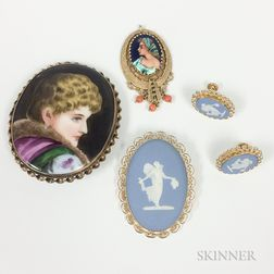 Group of Portrait Brooches