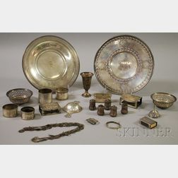 Group of Silver Dishes and Tableware