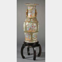 Rose Medallion Porcelain Floor Vase