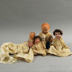 Six Assorted Dolls