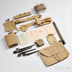 Group of British Pattern 37 Webb Gear and Equipment