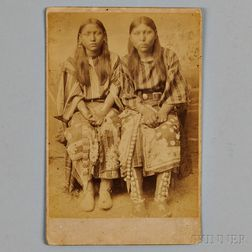 Unmarked Cabinet Card of Two Southern Plains Women