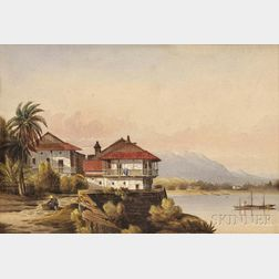 M'Ilvaine, William Jr. (1813-1867) On the Walls of Panama  , Watercolor on Paper, 1850.