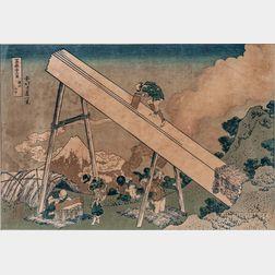 Hokusai (1760-1849) Woodblock Print