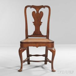 Carved Mahogany and Cedar Side Chair