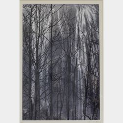Ko Si-Chi (Taiwanese, b. 1929)      Untitled (Waterfalls and Trees)