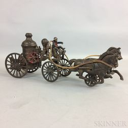 Horlick's Cast Iron Branded Fire Carriage