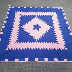 Three Geometric Pieced Cotton Quilts