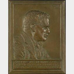 James Earle Fraser (American, 1876-1953)  Roosevelt Bas-Relief Plaque
