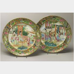 Pair of Rose Mandarin Plates