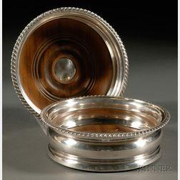 Pair of George IV Silver Wine Coasters