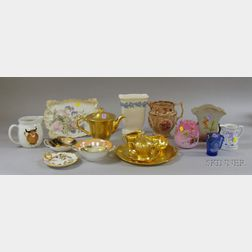 Seventeen Pieces of Assorted Decorated and Collectible Ceramics and Glass