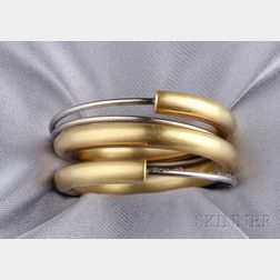 18kt Gold and Stainless Steel Band