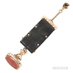 Antique Gold and Carnelian Islamic Intaglio Watch Fob, Marcus and Co.