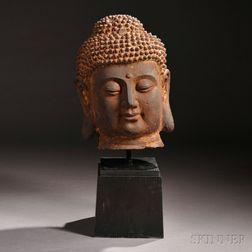 Monumental Head of the Buddha